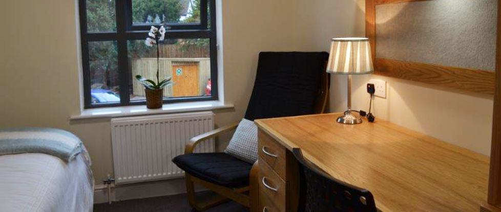 One of the en-suite rooms available at the Longdales Lodge, student accommodation.